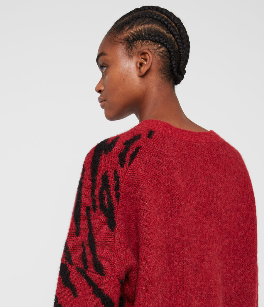 Womens Karina Sweater (red_black) - Image 5