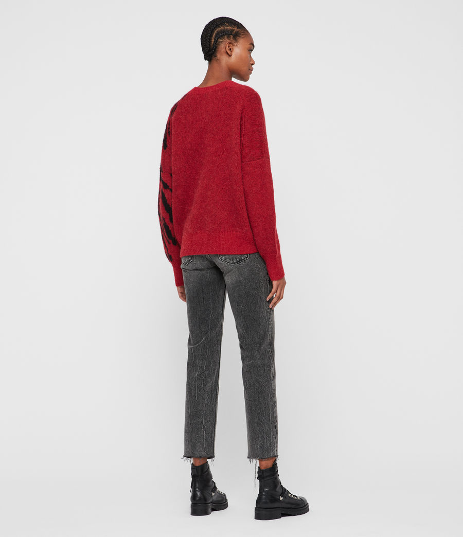Womens Karina Sweater (red_black) - Image 6