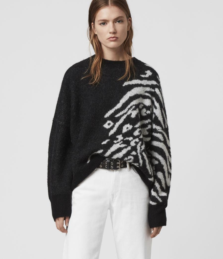 Womens Karina Sweater (red_black) - Image 1