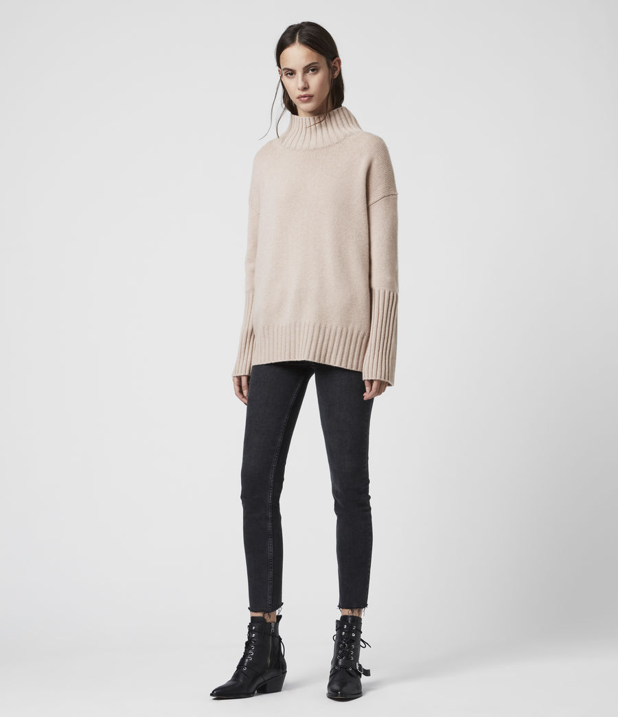 Womens Vale Cashmere Sweater (whisper_pink) - Image 5