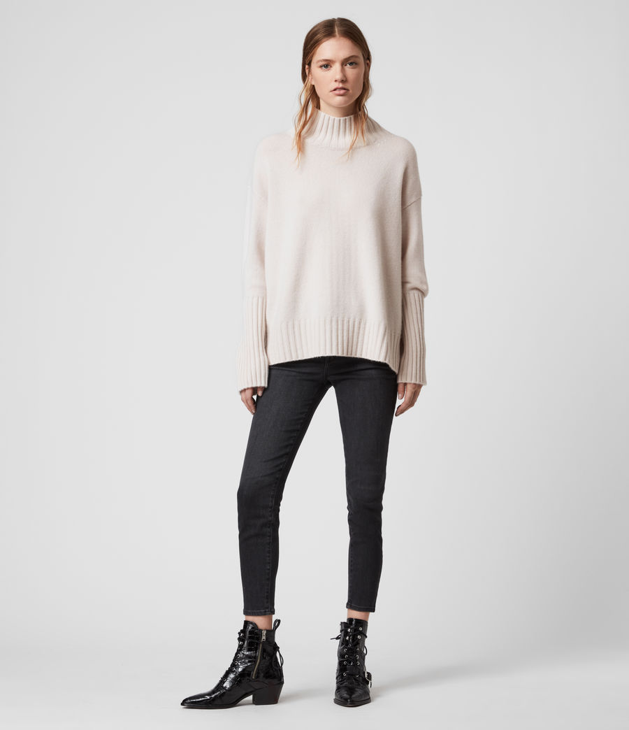 Womens Vale Cashmere Sweater (ecru_white) - Image 1