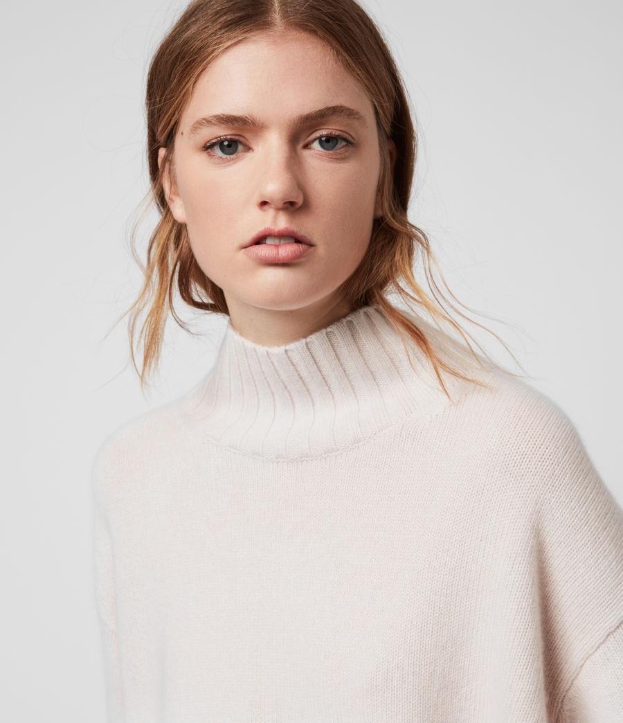 Womens Vale Cashmere Sweater (ecru_white) - Image 2