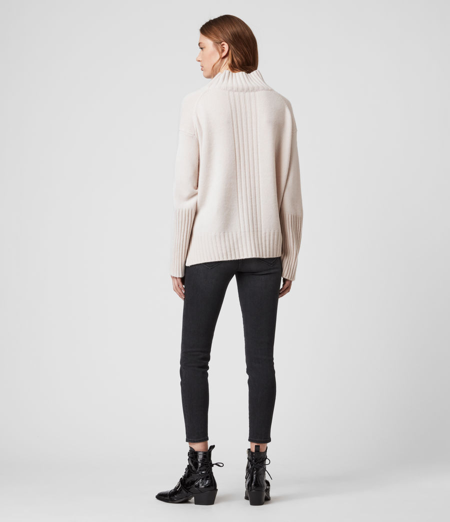 Womens Vale Cashmere Sweater (ecru_white) - Image 4