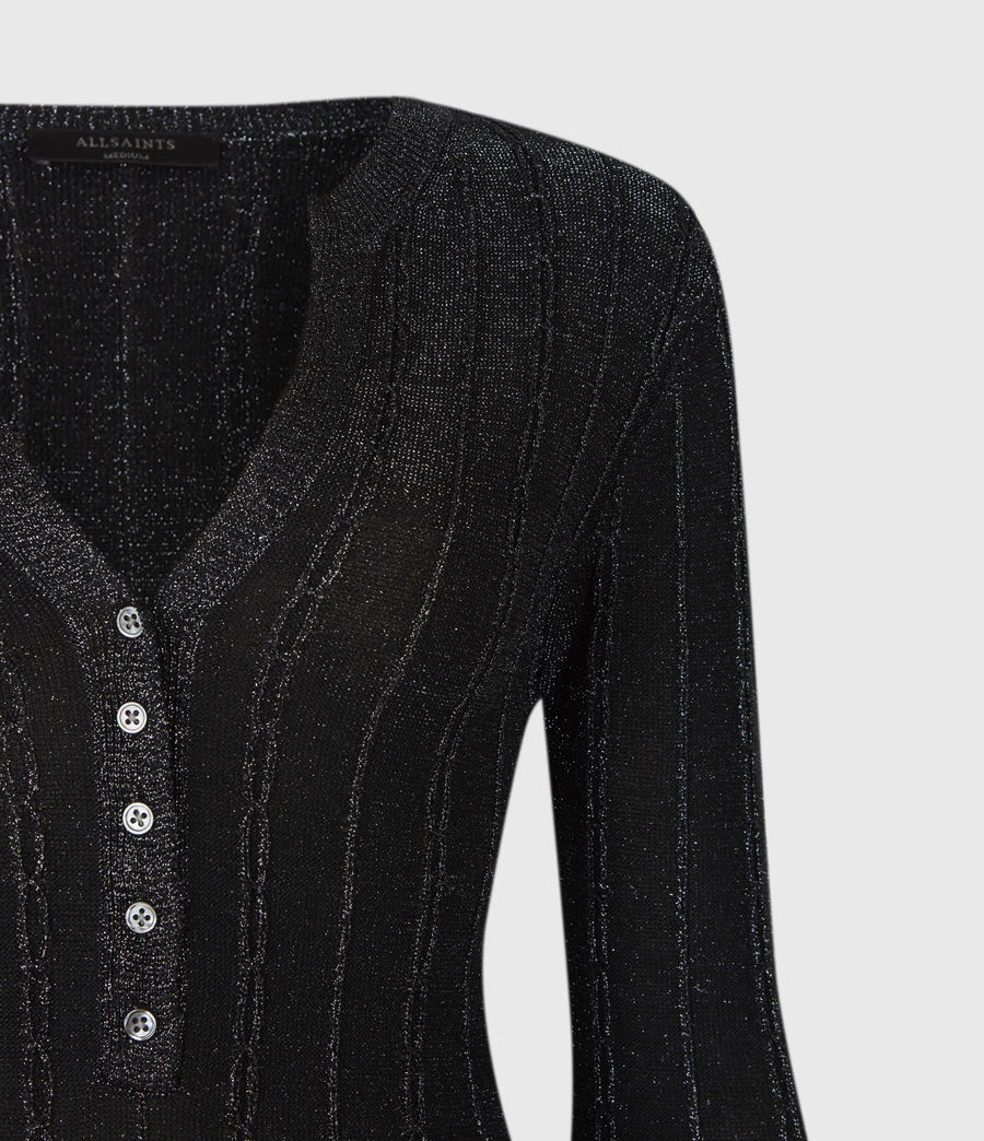 Womens Agnetha Knit Top (dk_blue_metallic) - Image 4