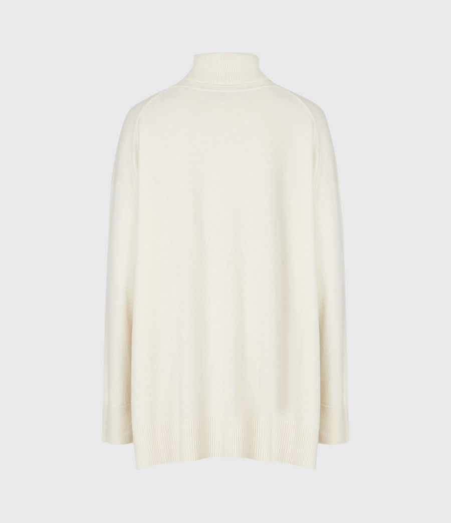 Womens Gala Cashmere Blend Roll Neck Sweater (chalk_white) - Image 3