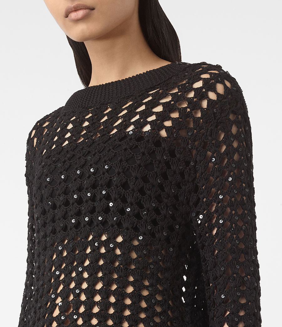 Womens Alyse Sweater (black) - Image 2