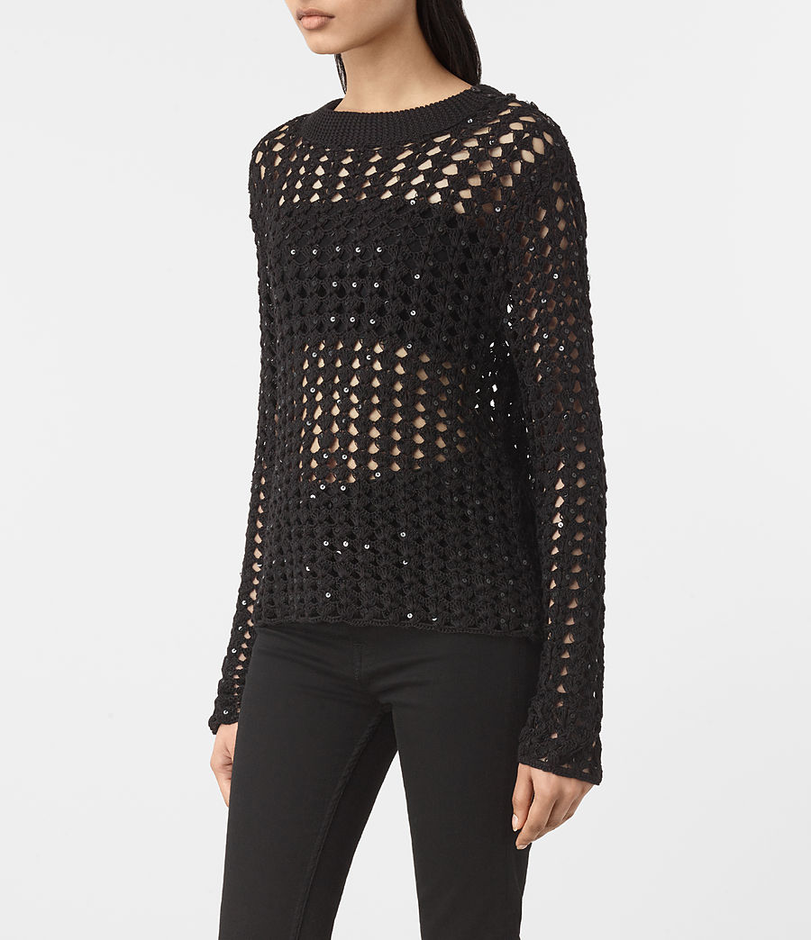 Womens Alyse Sweater (black) - Image 3
