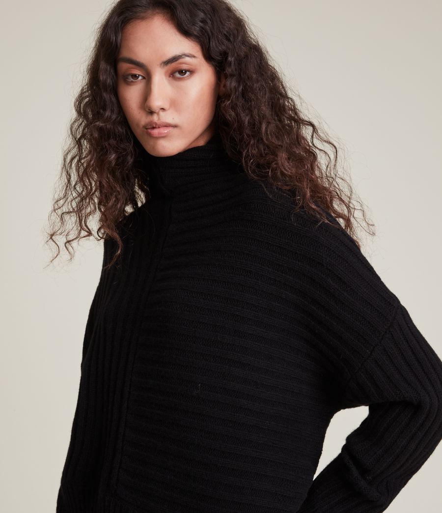 Womens Penryn Cashmere Sweater (black) - Image 2
