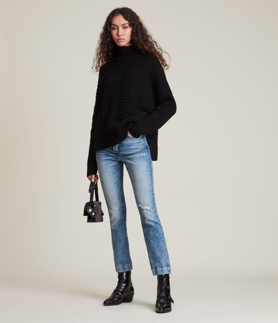 Womens Penryn Cashmere Sweater (black) - Image 3