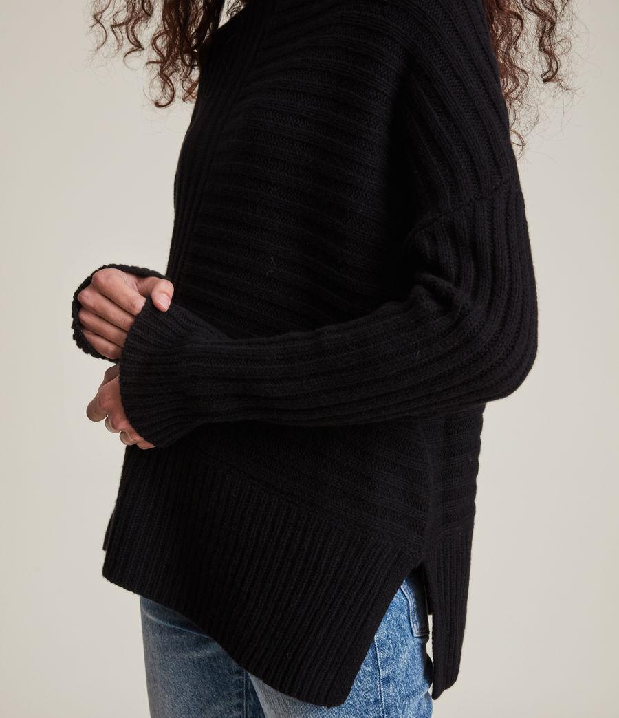 Womens Penryn Cashmere Sweater (black) - Image 4