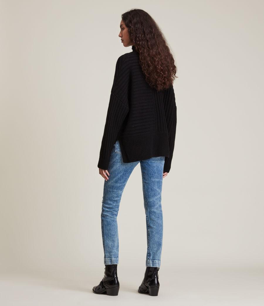 Womens Penryn Cashmere Sweater (black) - Image 5