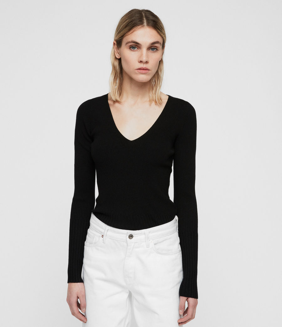 Women's Ribba Jumper (black) - Image 1