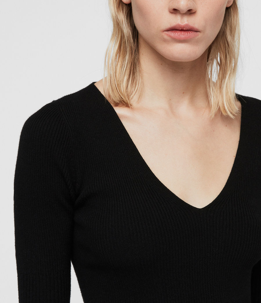 Women's Ribba Jumper (black) - Image 2