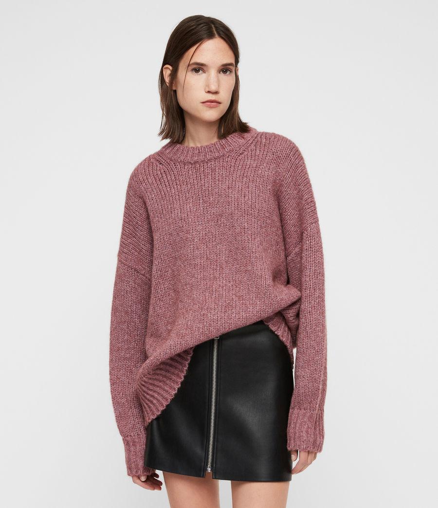 Womens Gemini Sweater (pink_metalic) - Image 1