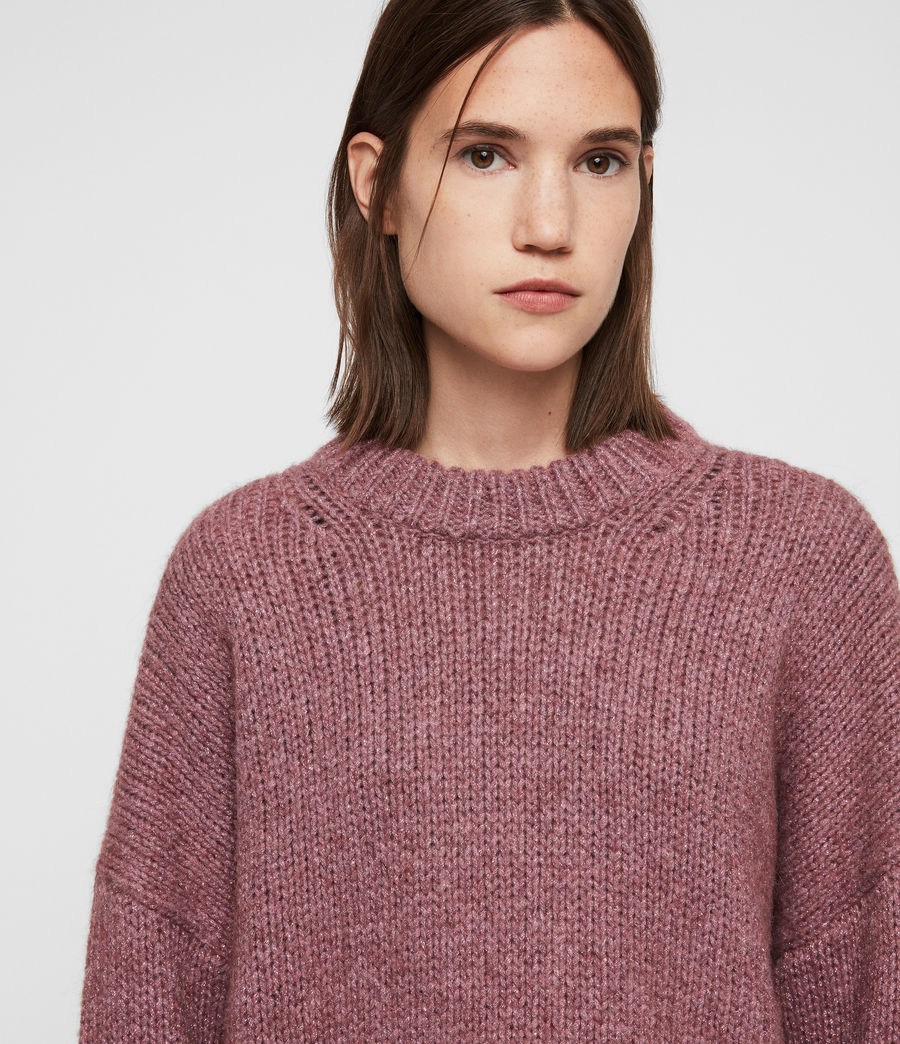 Womens Gemini Sweater (pink_metalic) - Image 2