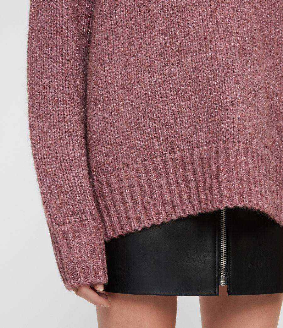 Womens Gemini Sweater (pink_metalic) - Image 4
