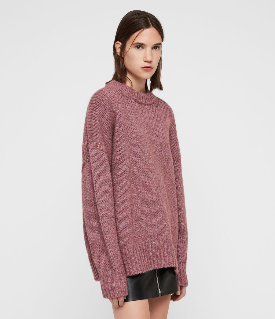 Womens Gemini Sweater (pink_metalic) - Image 5