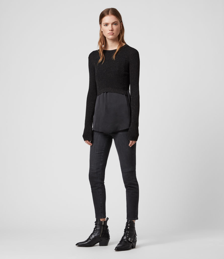 Women's Kowlo Shine Jumper (black) - Image 3