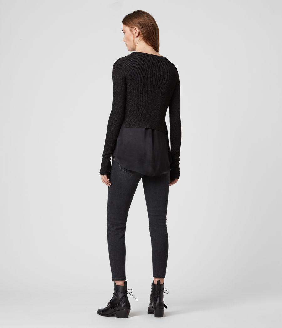 Women's Kowlo Shine Jumper (black) - Image 5