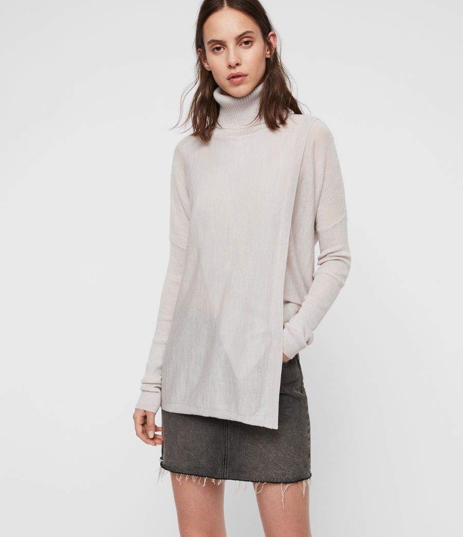 Womens Koko Wrap Sweater (millet_grey_marl) - Image 1