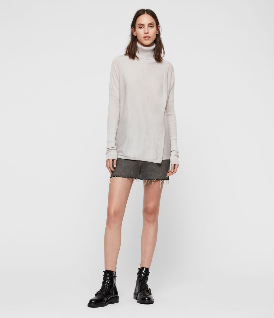 Womens Koko Wrap Sweater (millet_grey_marl) - Image 3