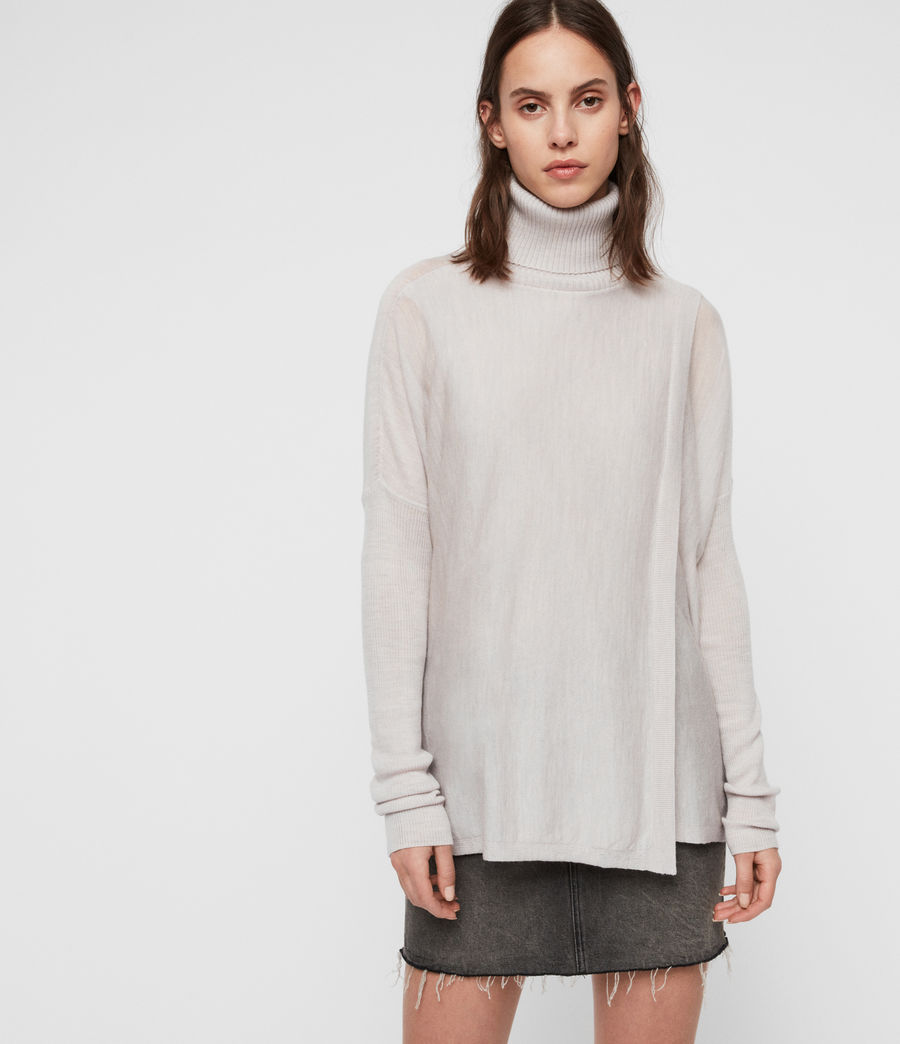 Womens Koko Wrap Sweater (millet_grey_marl) - Image 4
