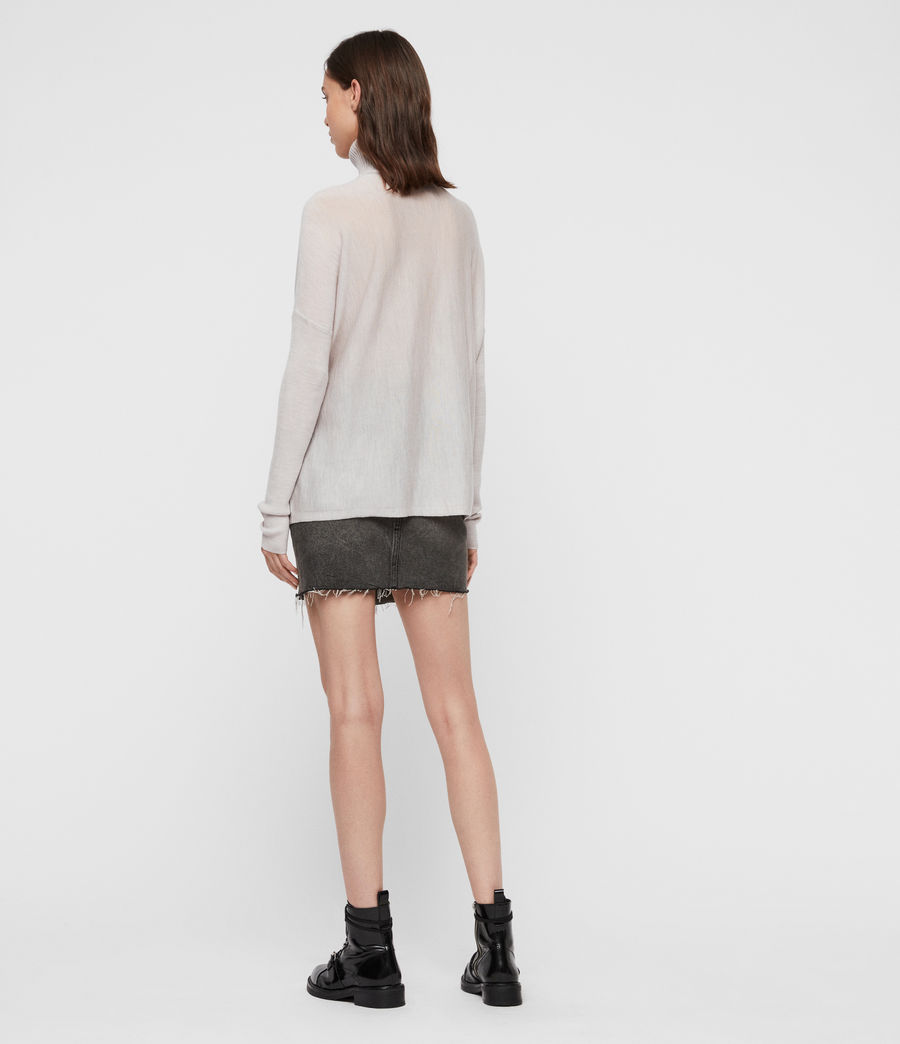 Womens Koko Wrap Sweater (millet_grey_marl) - Image 5