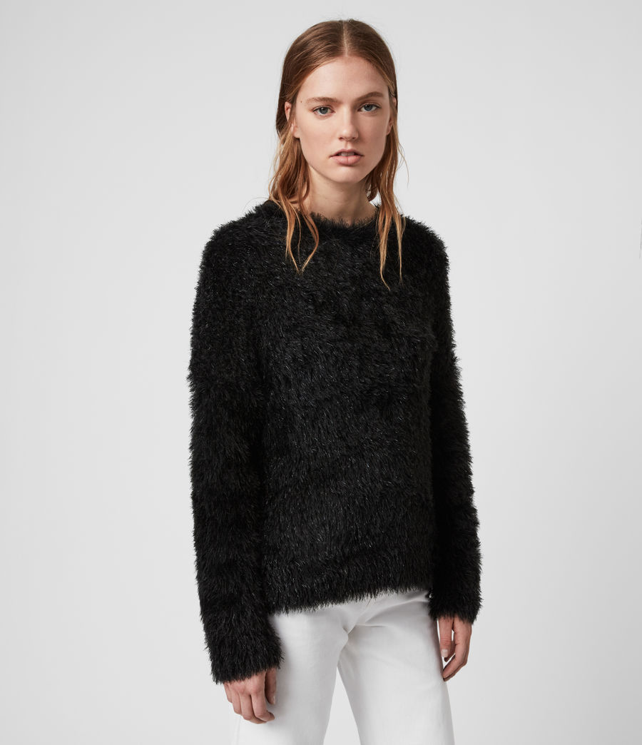Womens Tinsel Sweater (black) - Image 3