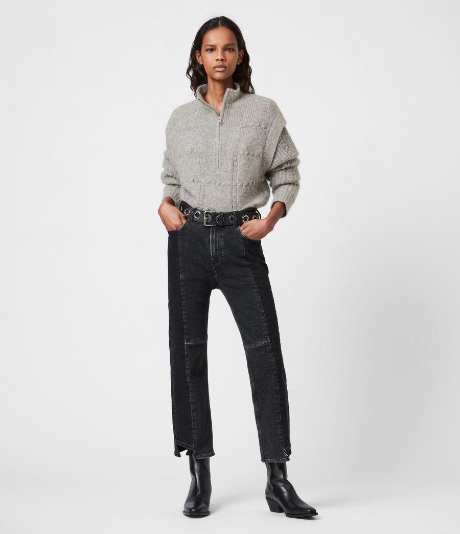 Womens Letta Zip Sweater (pale_grey_marl) - Image 4