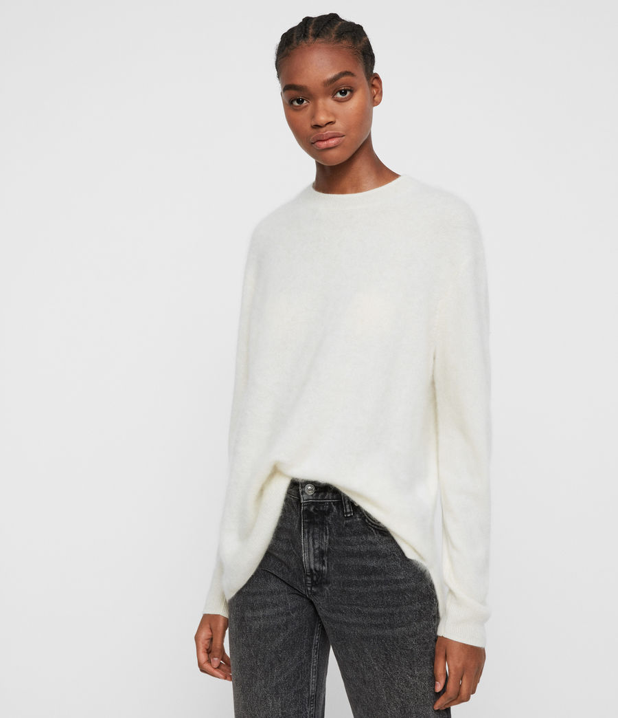 Women's Wulf Cashmere Jumper (chalk_white) - Image 1