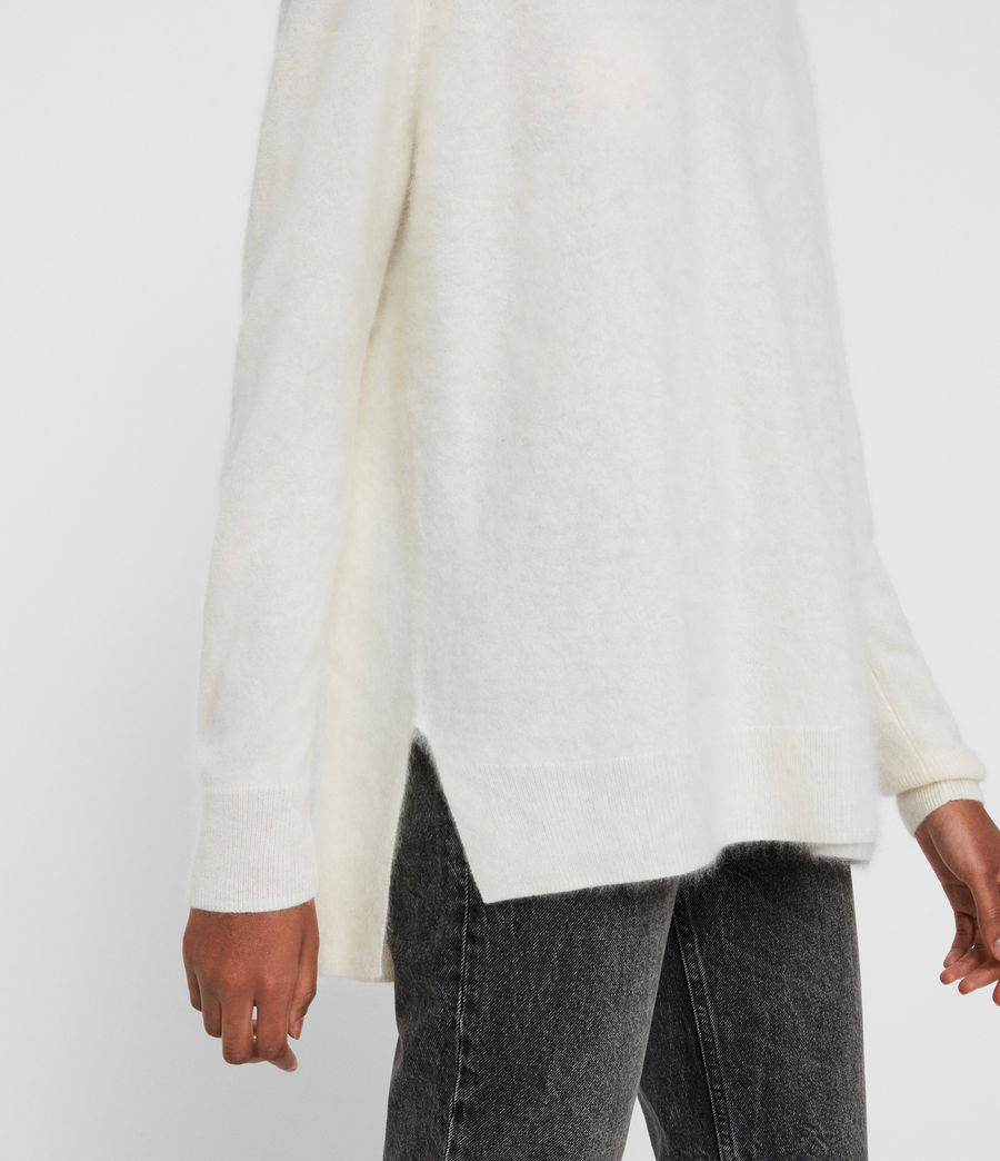 Women's Wulf Cashmere Jumper (chalk_white) - Image 2