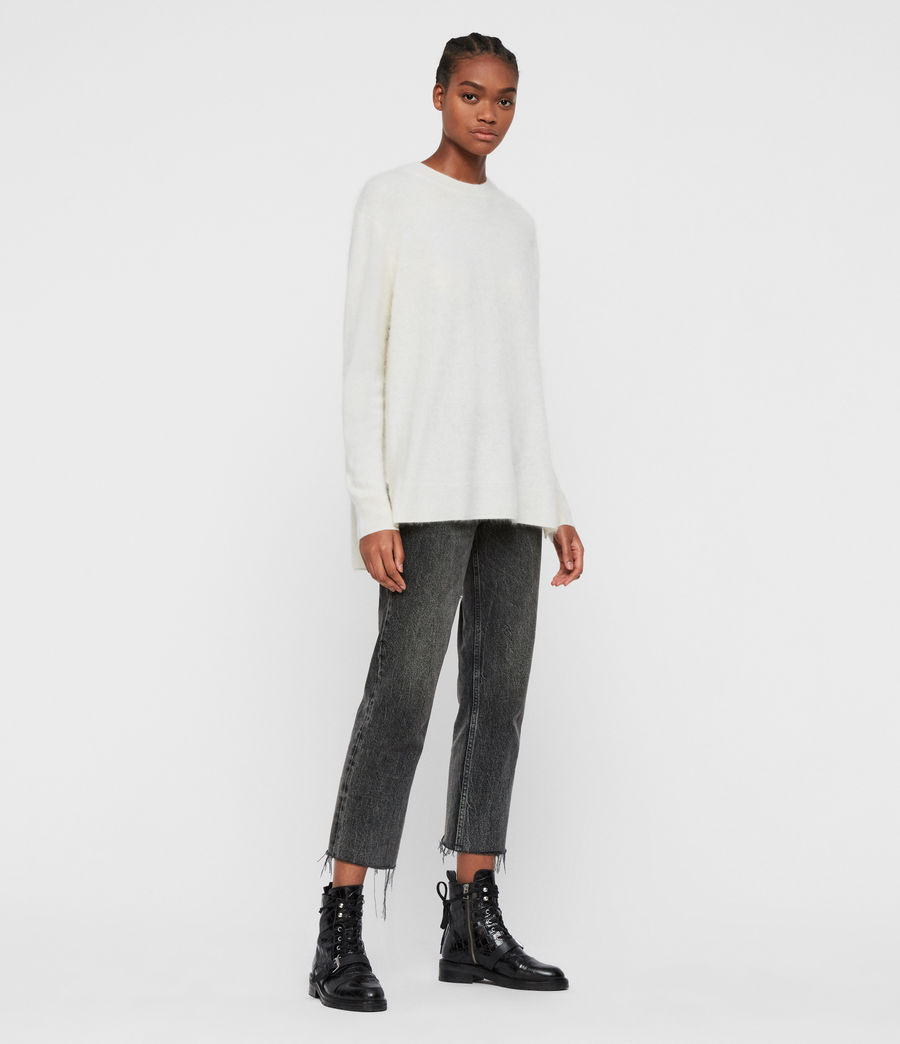 Women's Wulf Cashmere Jumper (chalk_white) - Image 3