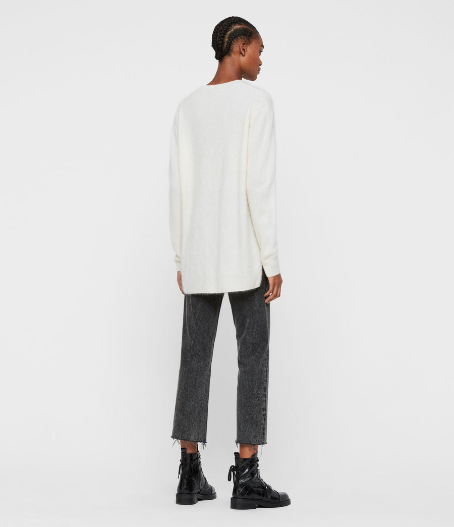 Women's Wulf Cashmere Jumper (chalk_white) - Image 6