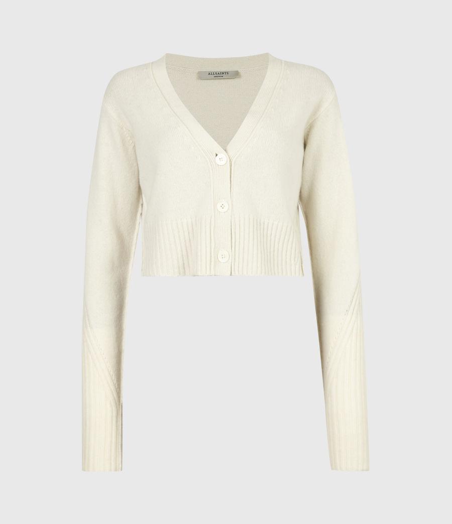 Womens Drew Cashmere-Wool Cardigan (ivory_white) - Image 2