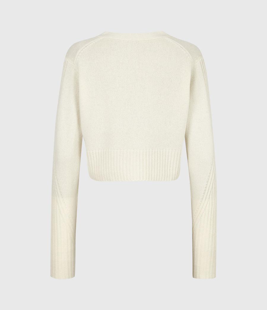 Womens Drew Cashmere-Wool Cardigan (ivory_white) - Image 3