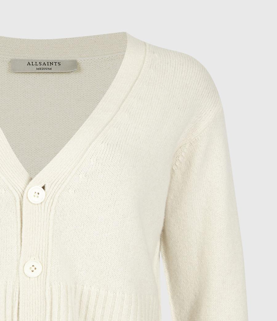 Womens Drew Cashmere-Wool Cardigan (ivory_white) - Image 5
