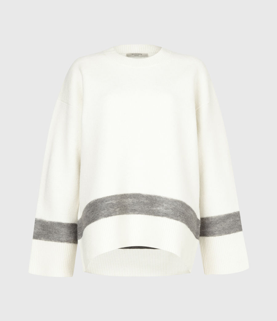 Womens Pru Merino Wool Sweater (chalk_white_grey) - Image 2