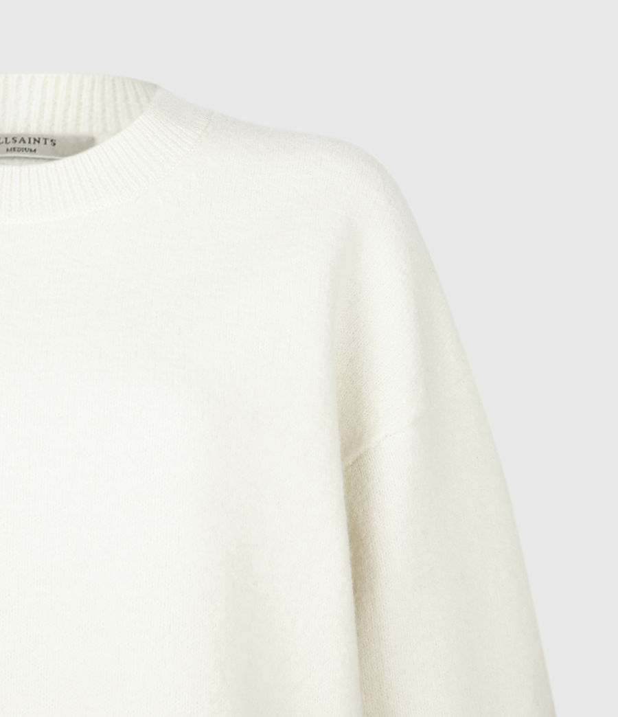 Womens Pru Merino Wool Sweater (chalk_white_grey) - Image 5