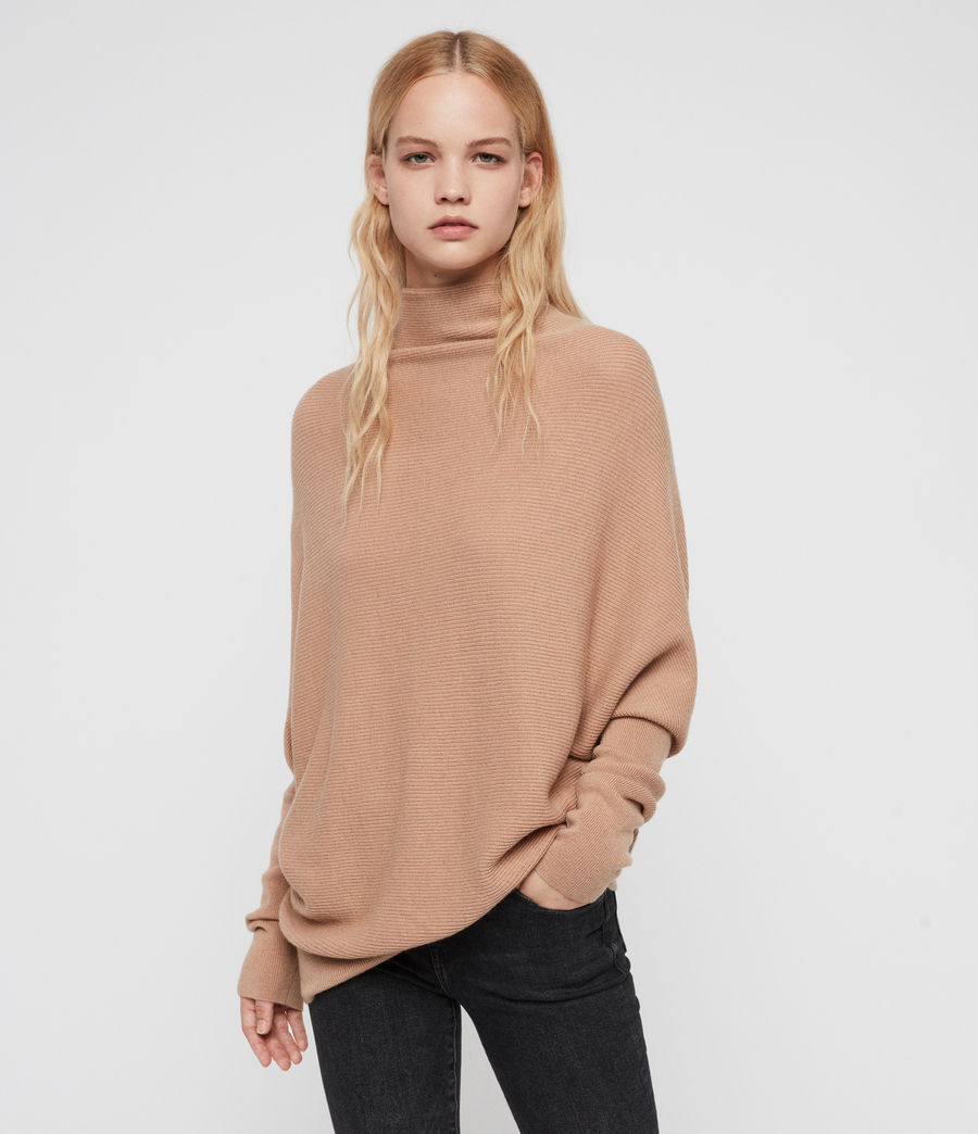 Women's Ridley Cashmere Blend Jumper (paprika_red) - Image 1