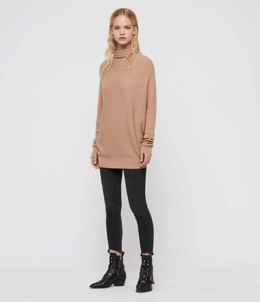 Women's Ridley Cashmere Blend Jumper (paprika_red) - Image 3