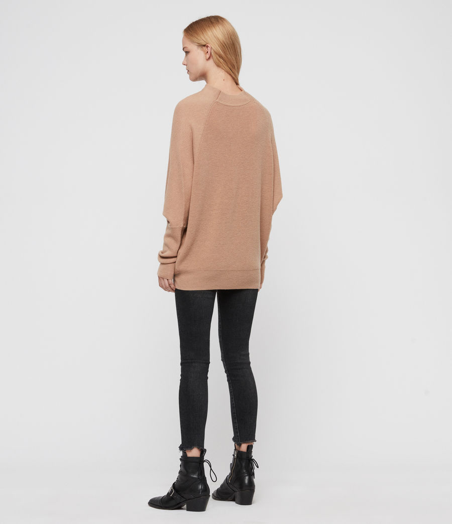 Women's Ridley Cashmere Blend Jumper (paprika_red) - Image 5