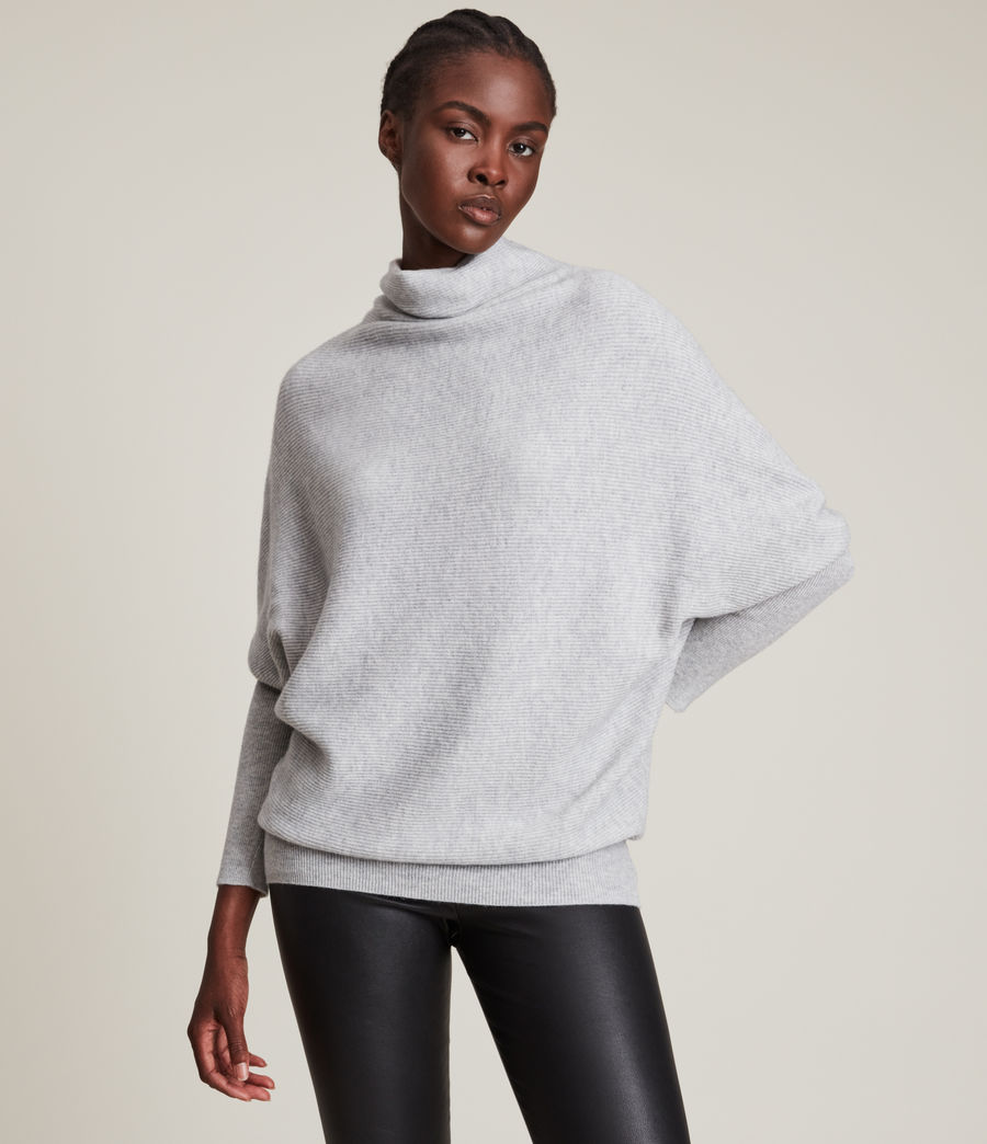 Womens Ridley Cashmere Blend Sweater (artic_grey) - Image 1