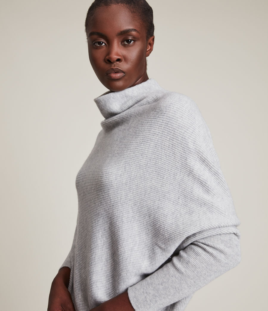 Womens Ridley Cashmere Blend Sweater (artic_grey) - Image 2