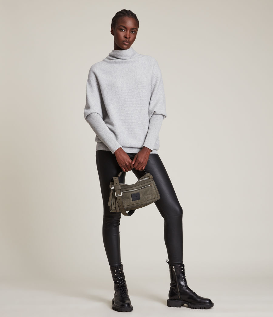 Womens Ridley Cashmere Blend Sweater (artic_grey) - Image 3