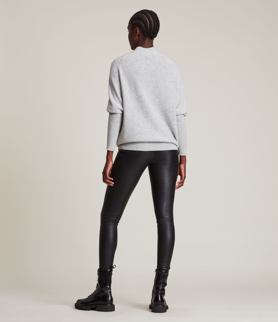 Womens Ridley Cashmere Blend Sweater (artic_grey) - Image 4