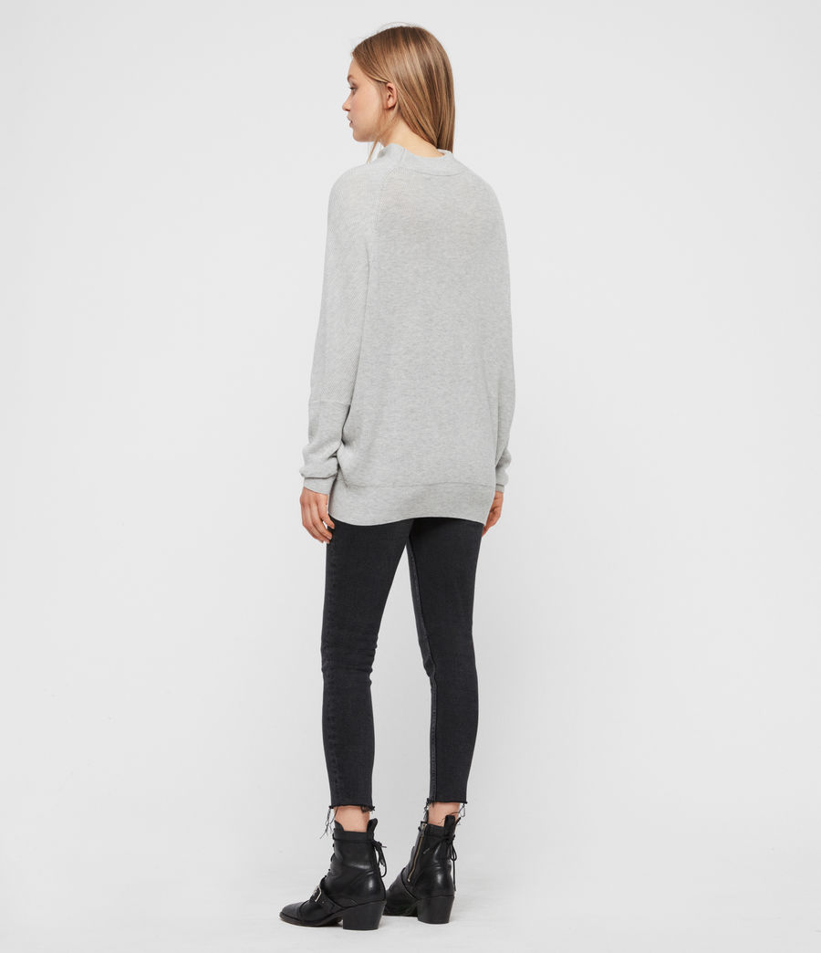 Womens Ridley Cashmere Blend Sweater (artic_grey) - Image 5