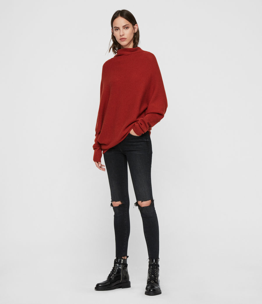 Womens Ridley Sweater (cinder_black_marl) - Image 3