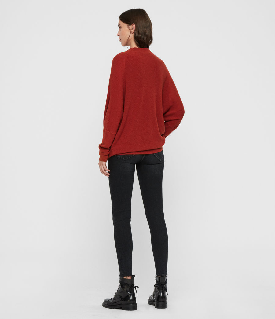 Womens Ridley Sweater (cinder_black_marl) - Image 5