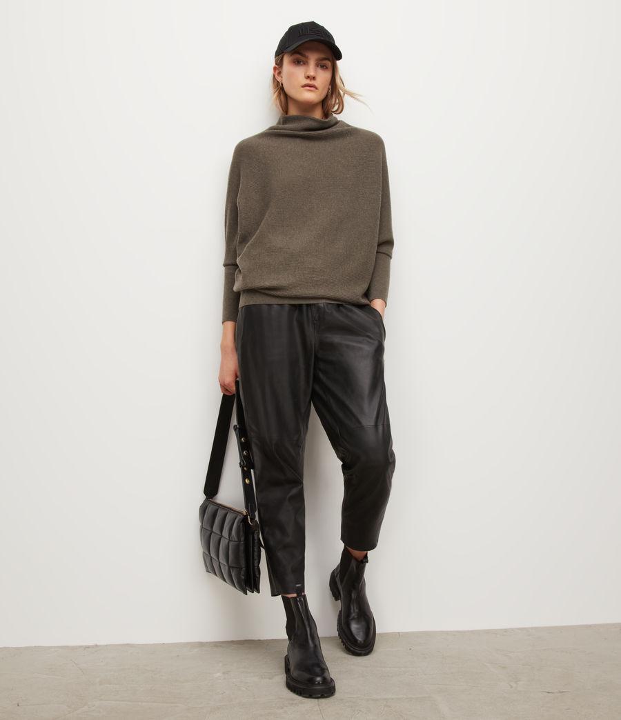 Womens Ridley Wool-Cashmere Blend Sweater (loch_brown_marl) - Image 1