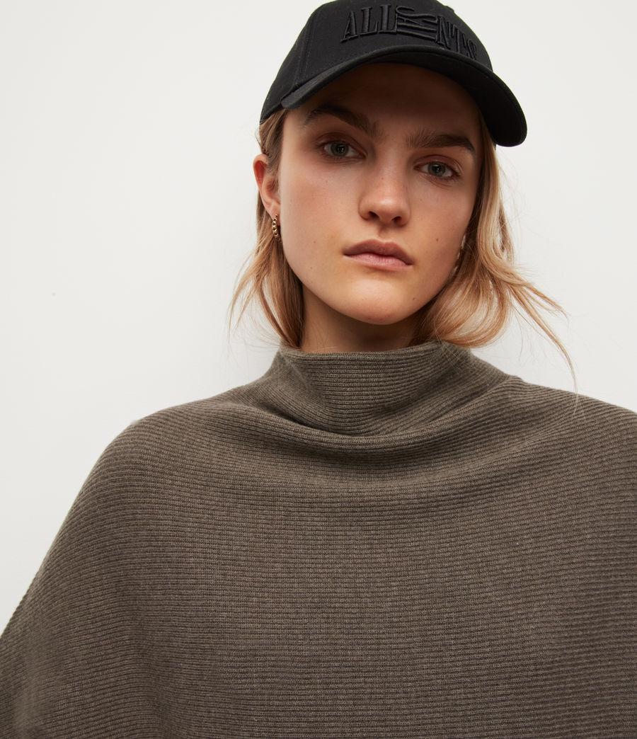 Womens Ridley Wool-Cashmere Blend Sweater (loch_brown_marl) - Image 2